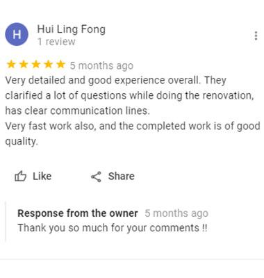 office remodeling testimonial