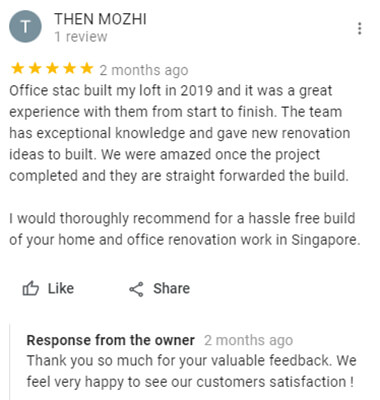 review for office redevelopment